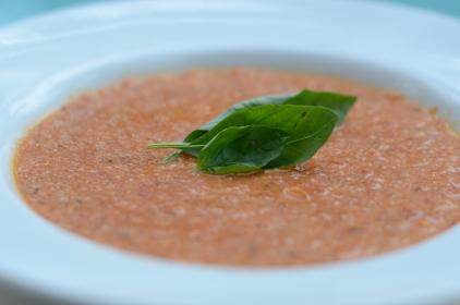 Roasted Tomato Quinoa Soup