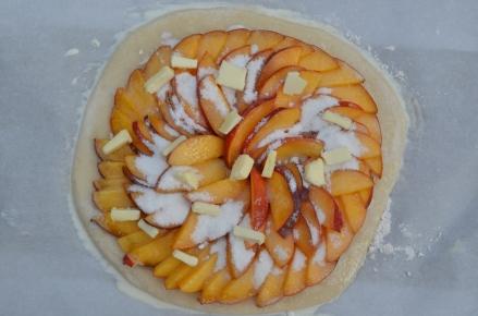 Peach Galette pre baking