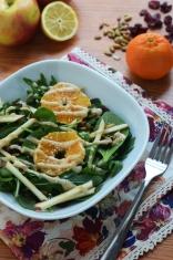 Spinach & Arugula Salad with Tahini-Lemon Dressing