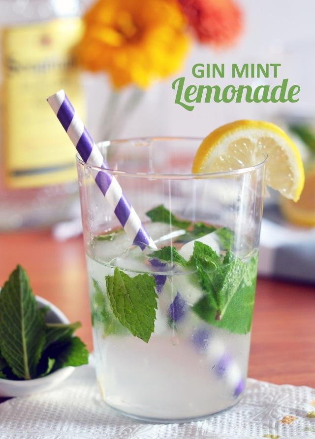 gin mint lemonade